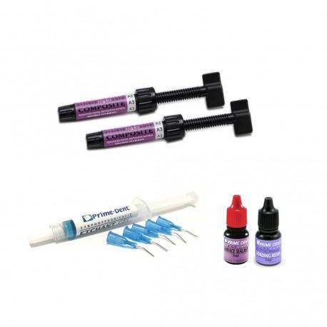 Kit Resinas Micro-Hybrid Prime Dental (7 Jeringas)