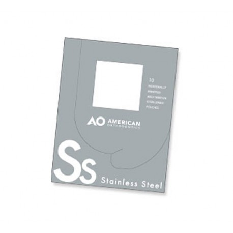 Arcos Acero Inoxidable Cuadrado / Rectangular (10 pcs) American Orthodontics