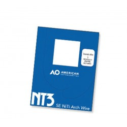 Arcos Niti NT3 VLP Autoligado Dimpled (10 pcs) American Orthodontics