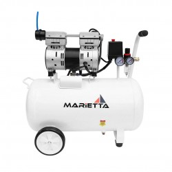 Compresor Dental 1Hp de 50 Litros Libre de Aceite Marietta