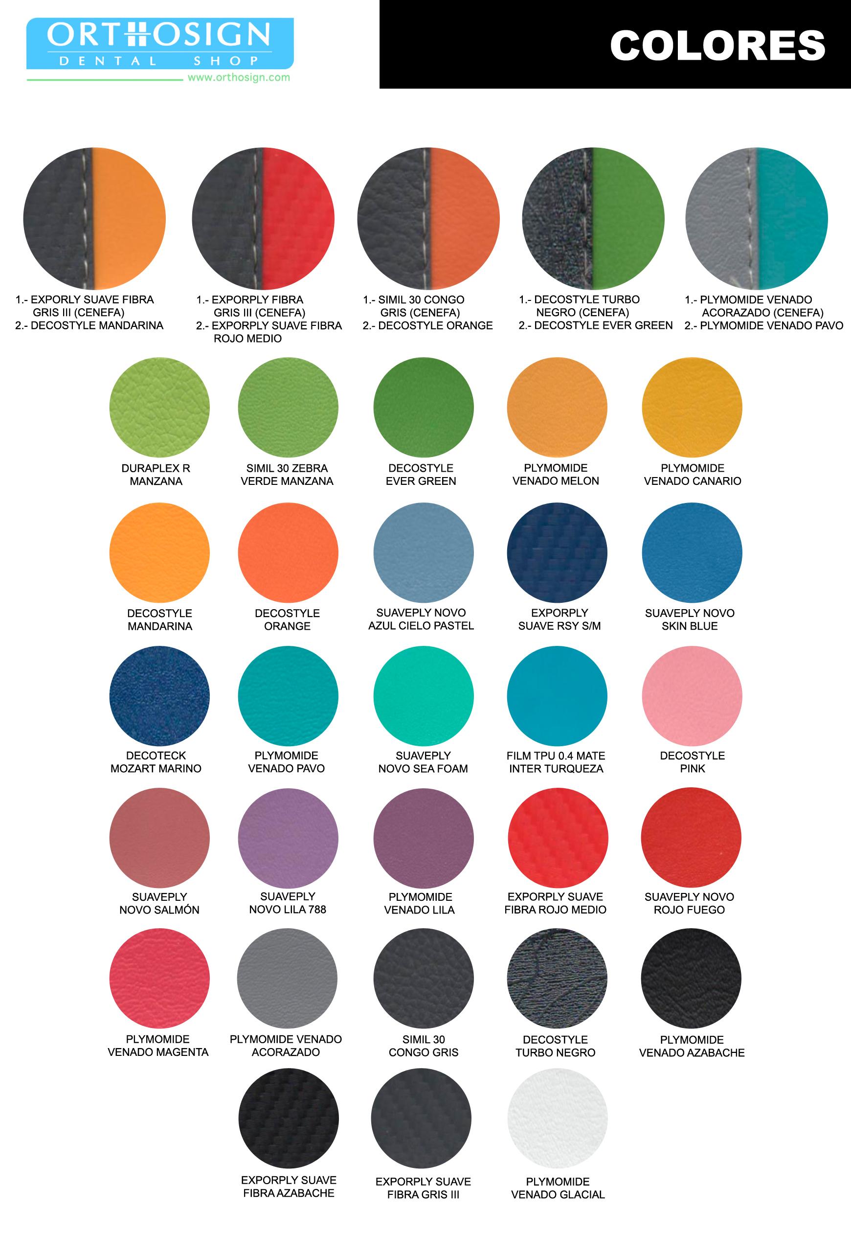 Colores - Unidades Dentales Peymar